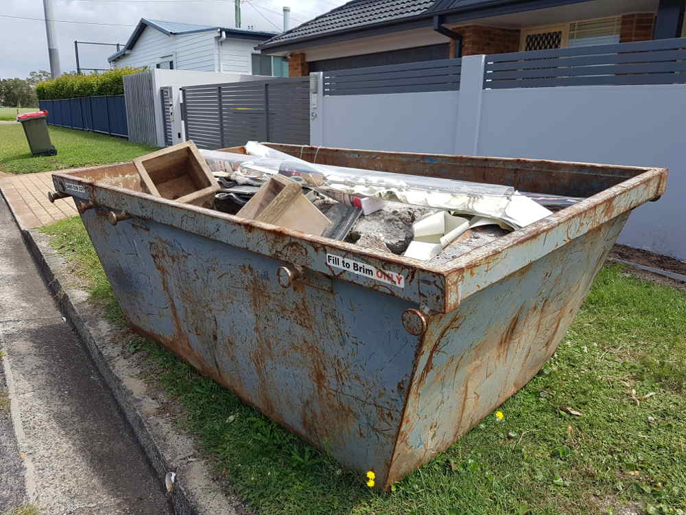 Skip bin on the nature strip